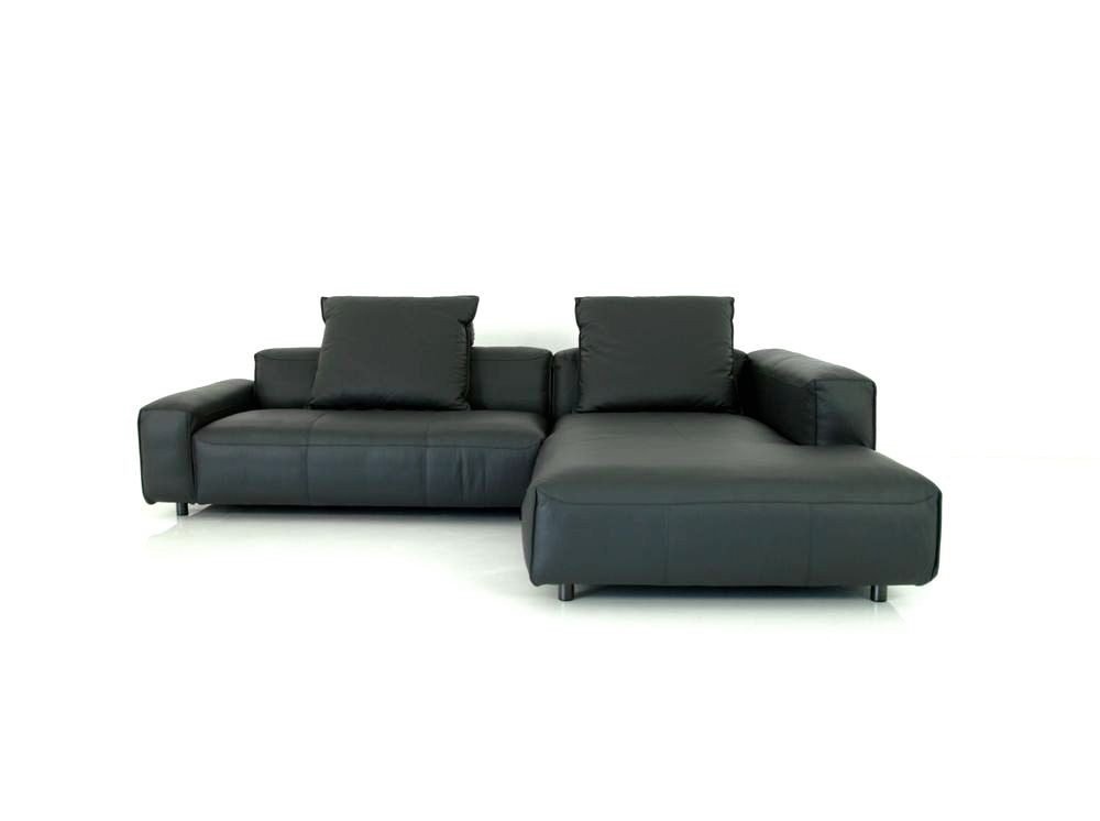 rolf benz mio ecksofa bertief in leder mit kissen rolf. Black Bedroom Furniture Sets. Home Design Ideas
