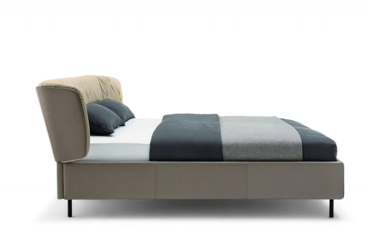 Rolf Benz SONO Bett in Leder- oder Stoffbezug mit Matratze und Lattenrost