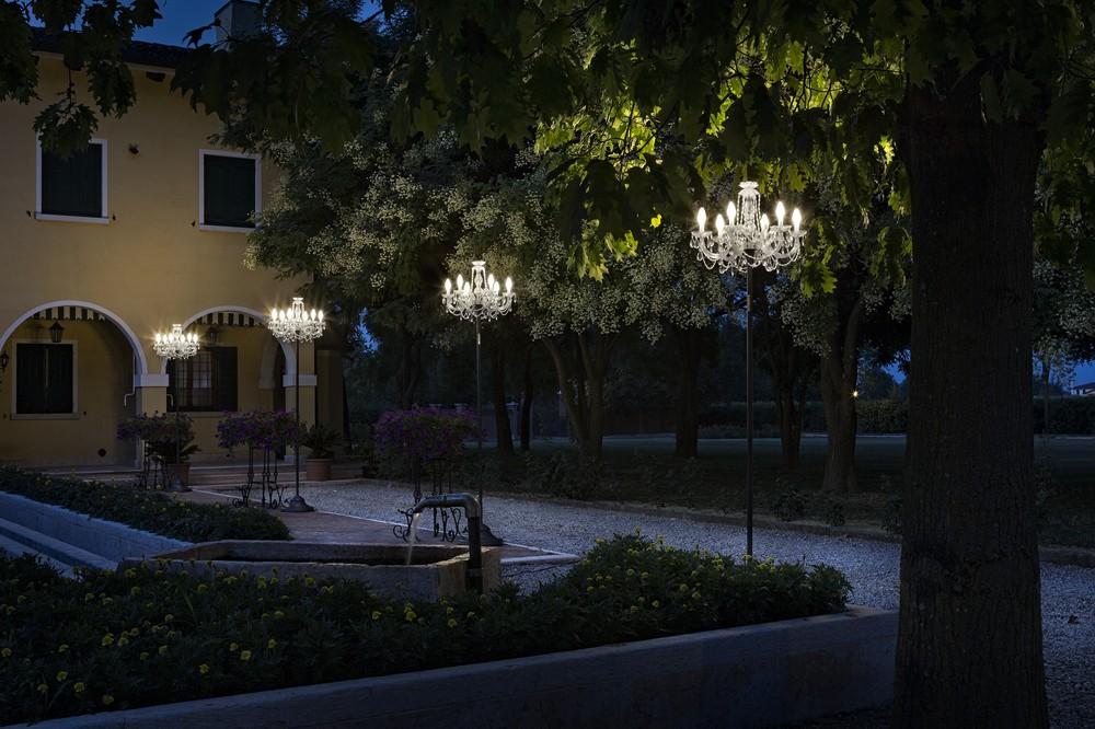 Masiero Drylight STL 6 PREMIUM wetterfeste Outdoor Stehleuchte LED mit RGB Farbspektrum und Accu