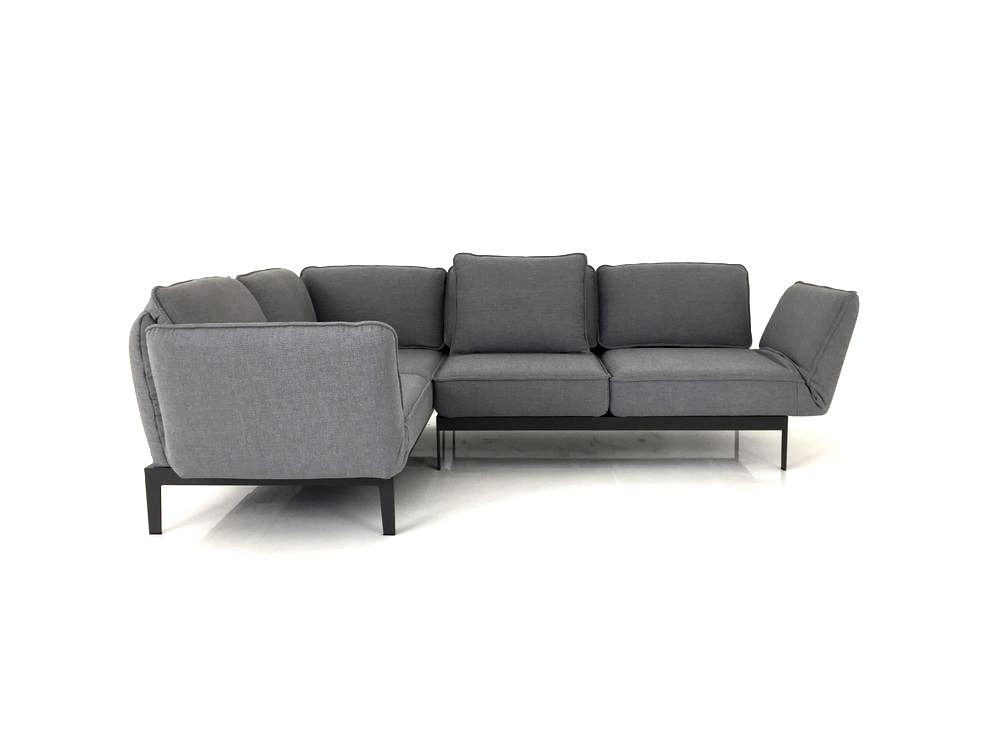 rolf benz mera ecksofa im grauen stoff mit r ckenfunktion. Black Bedroom Furniture Sets. Home Design Ideas