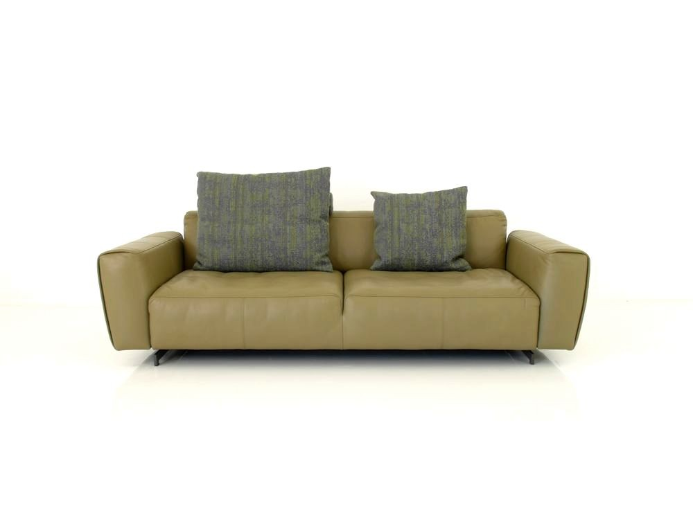 Rolf benz teno sofa in nappa leder graugr n mit kissenset for Rolf benz essen
