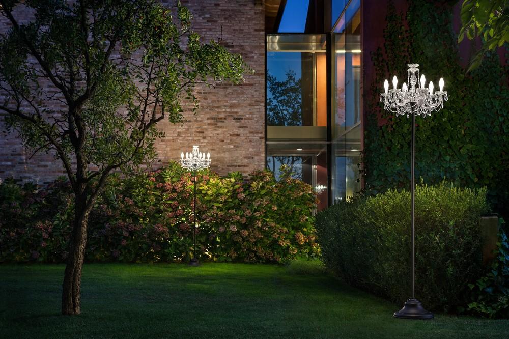 Masiero Drylight STL 6 EXTREME wetterfeste Outdoor Stehleuchte LED