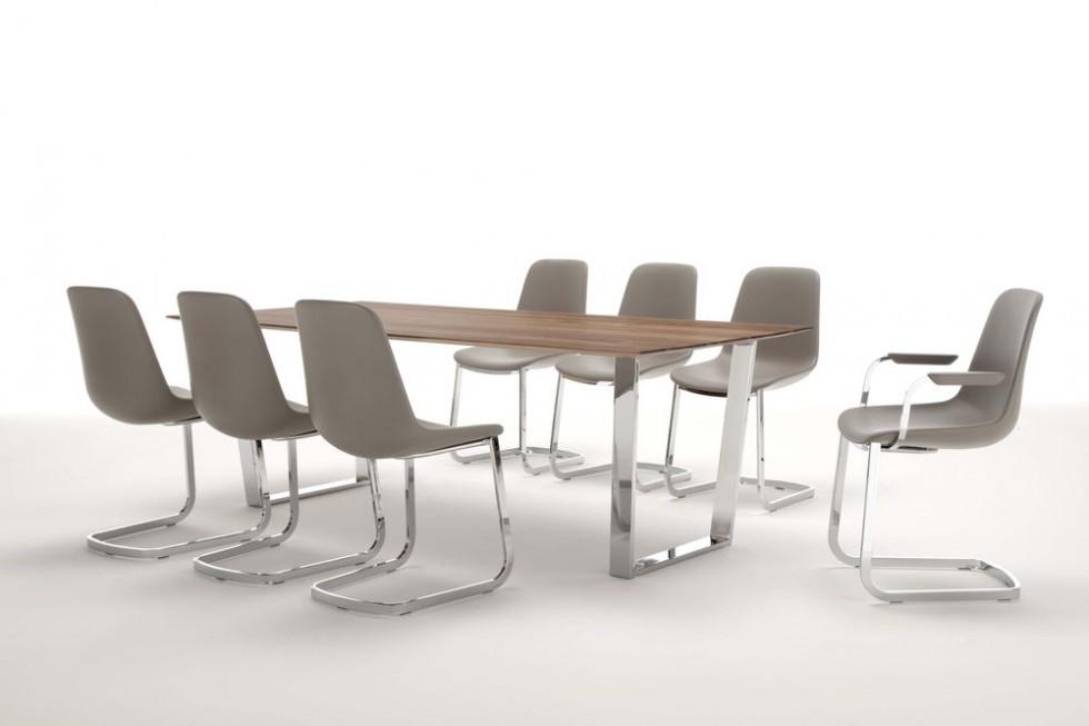Tonon STEP 904 Esstisch Stuhl mit Freischwing Gestell in vielen Farben und Varianten