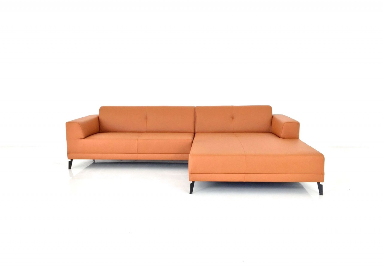Freistil 189 rolf benz sofa mit recamiere in leder for Sofa recamiere