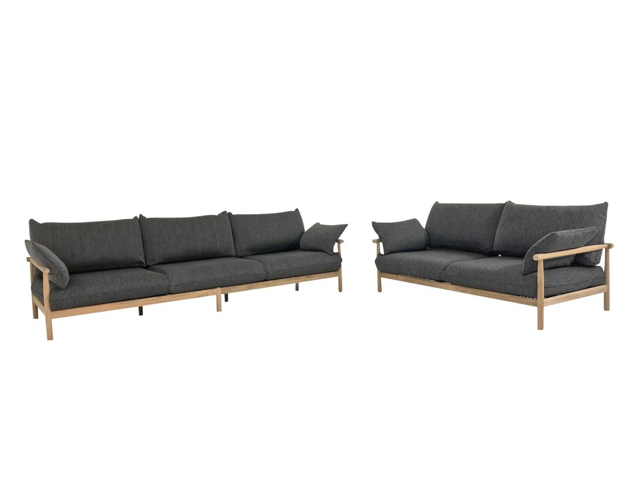 Dedon tibbo sofa 3 und sofa 2 f r garten und terrasse in for Sofa terrasse