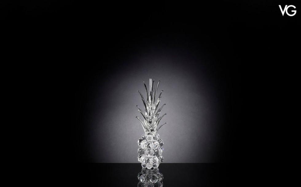 VG Kristall ANANAS handgearbeitet aus Murano Glass 40 cm hoch