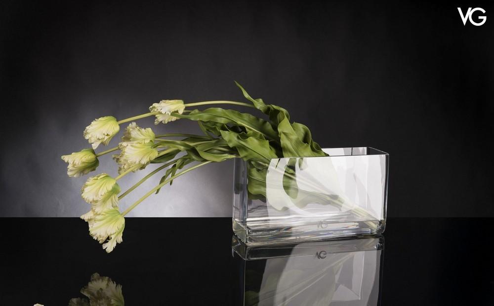 VG Bunch French Tulip Illusion weißes Tulpen Arrangement