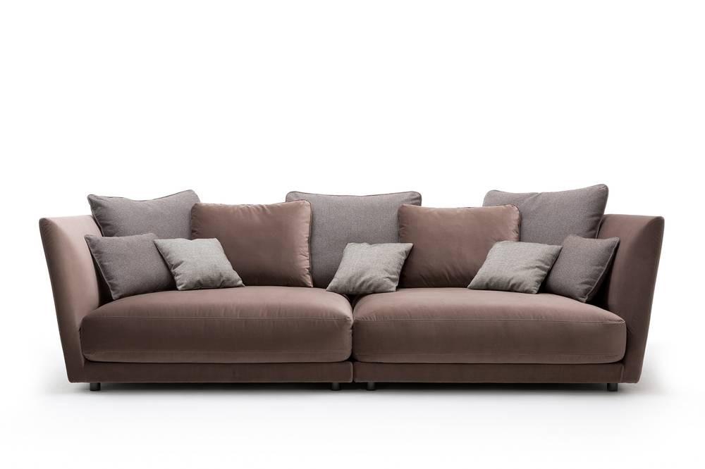 Rolf Benz TONDO Sofa de Luxe im samtigen Velourstoff taupe | Rolf ...
