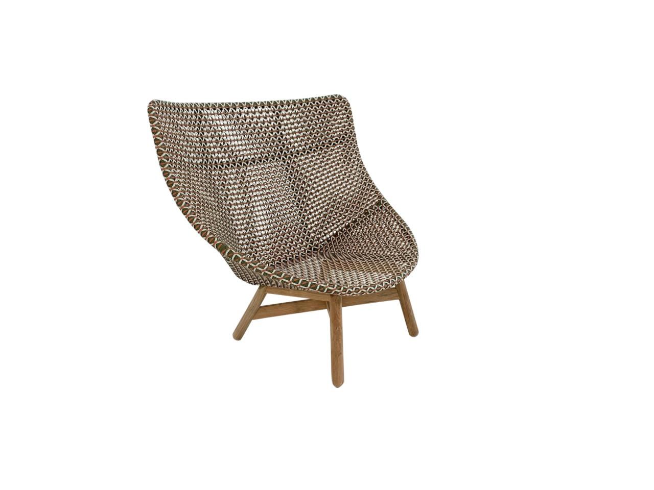 DEDON MBRACE WING CHAIR Hochlehner Sessel in der Farbe chestnut - neu für 2020