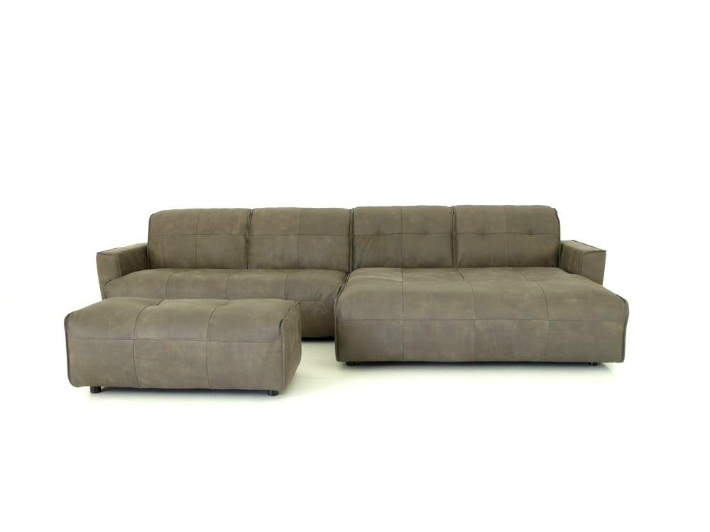 Hülsta Sofa hs 400 Ecksofa im braungrauen Anilin Leder Yves