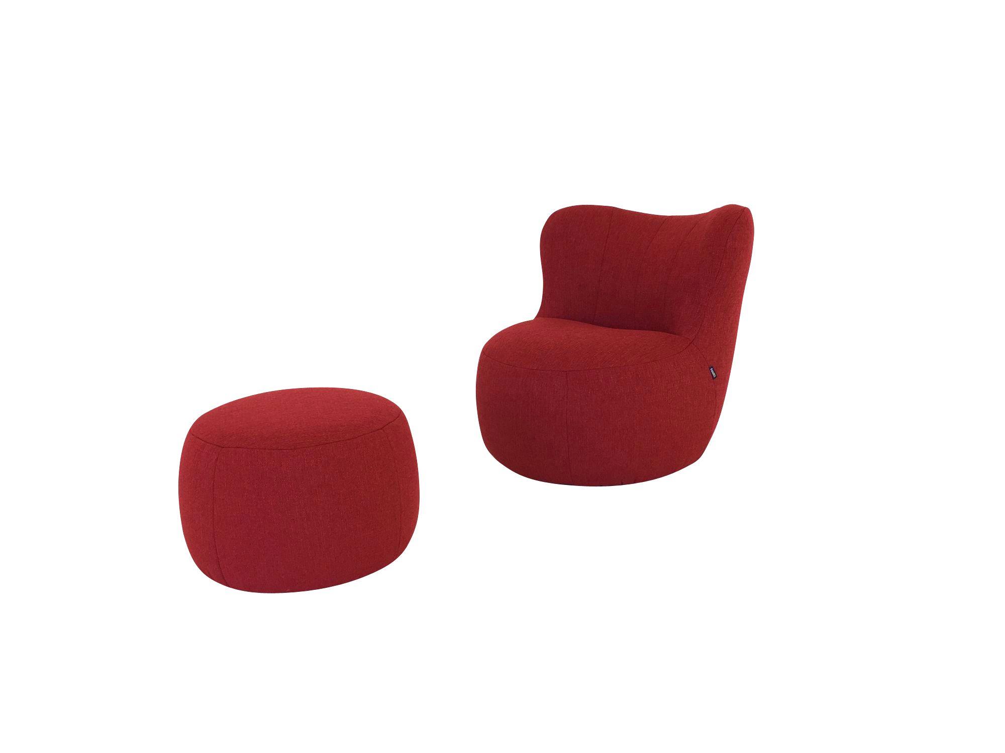 Freistil 173 rolf benz sessel mit rundem hocker in for Designer sessel outlet
