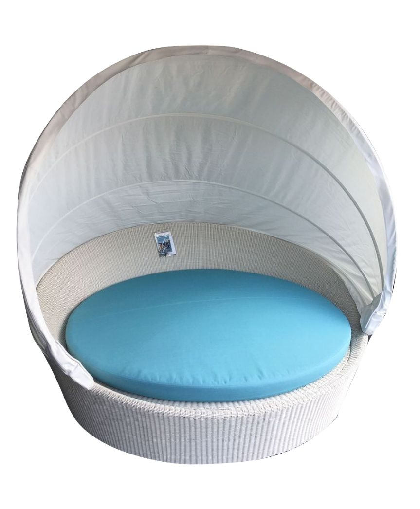 Dedon xxl orbit sofa insel in der farbe chalk inkl for Dedon gartenmobel outlet