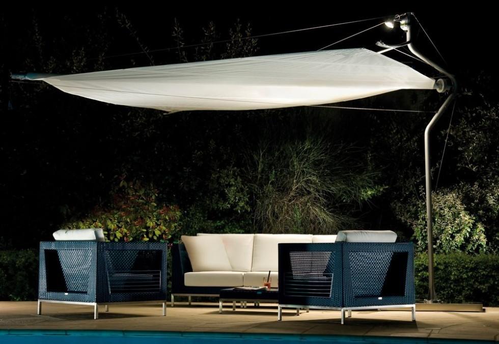 Corradi DEFENSE 11 und 14 Sonnenschirm im XXL Format ideal für DEDON Gartenmöbel