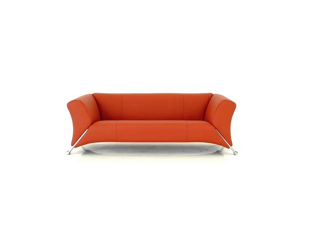 ROLF BENZ 322 Sofa Design Icon in Leder tomatenrot