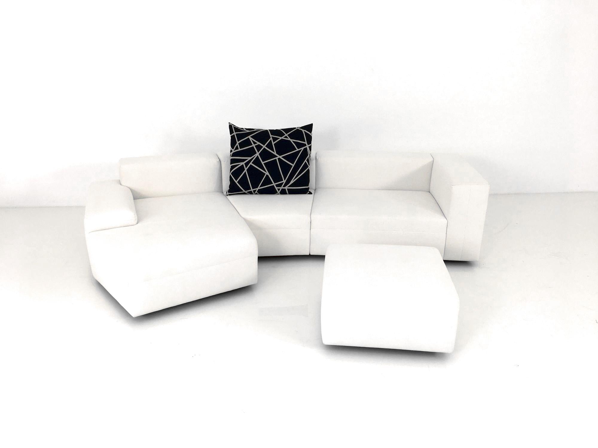 e schillig modular sofa mit recamiere asymmetrisch im stoff offwhite ewald schillig. Black Bedroom Furniture Sets. Home Design Ideas