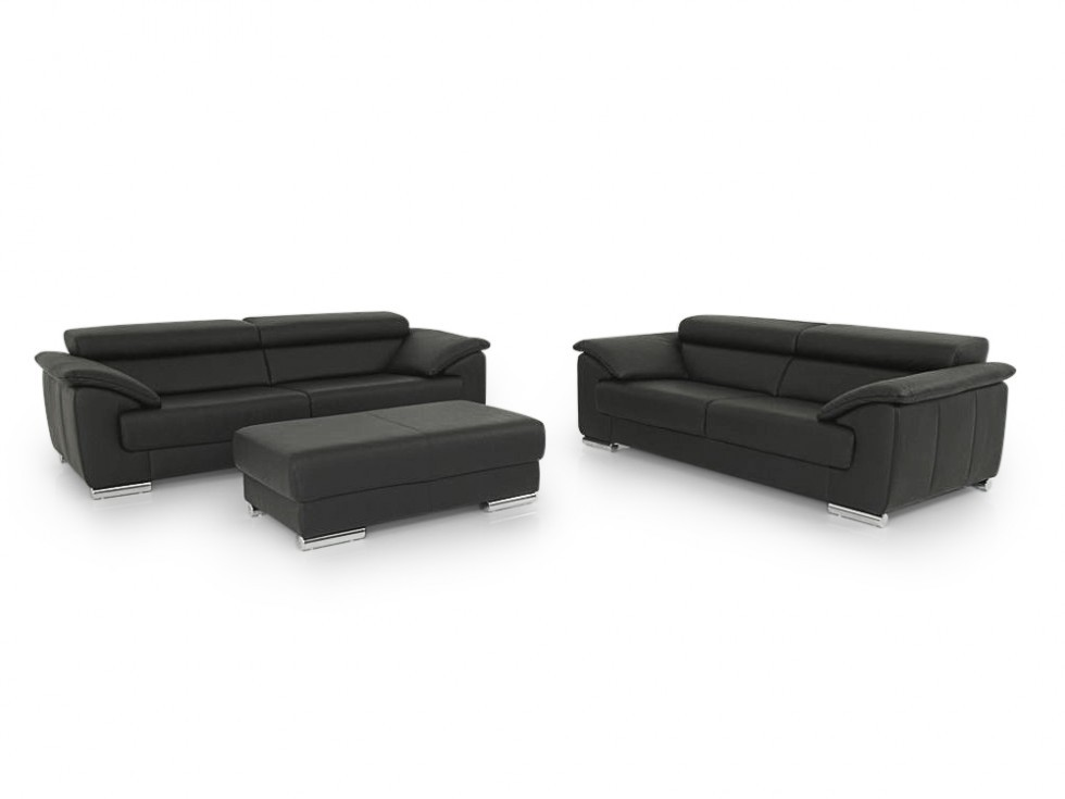 e schillig brand blues sofa garnitur mit hocker im. Black Bedroom Furniture Sets. Home Design Ideas