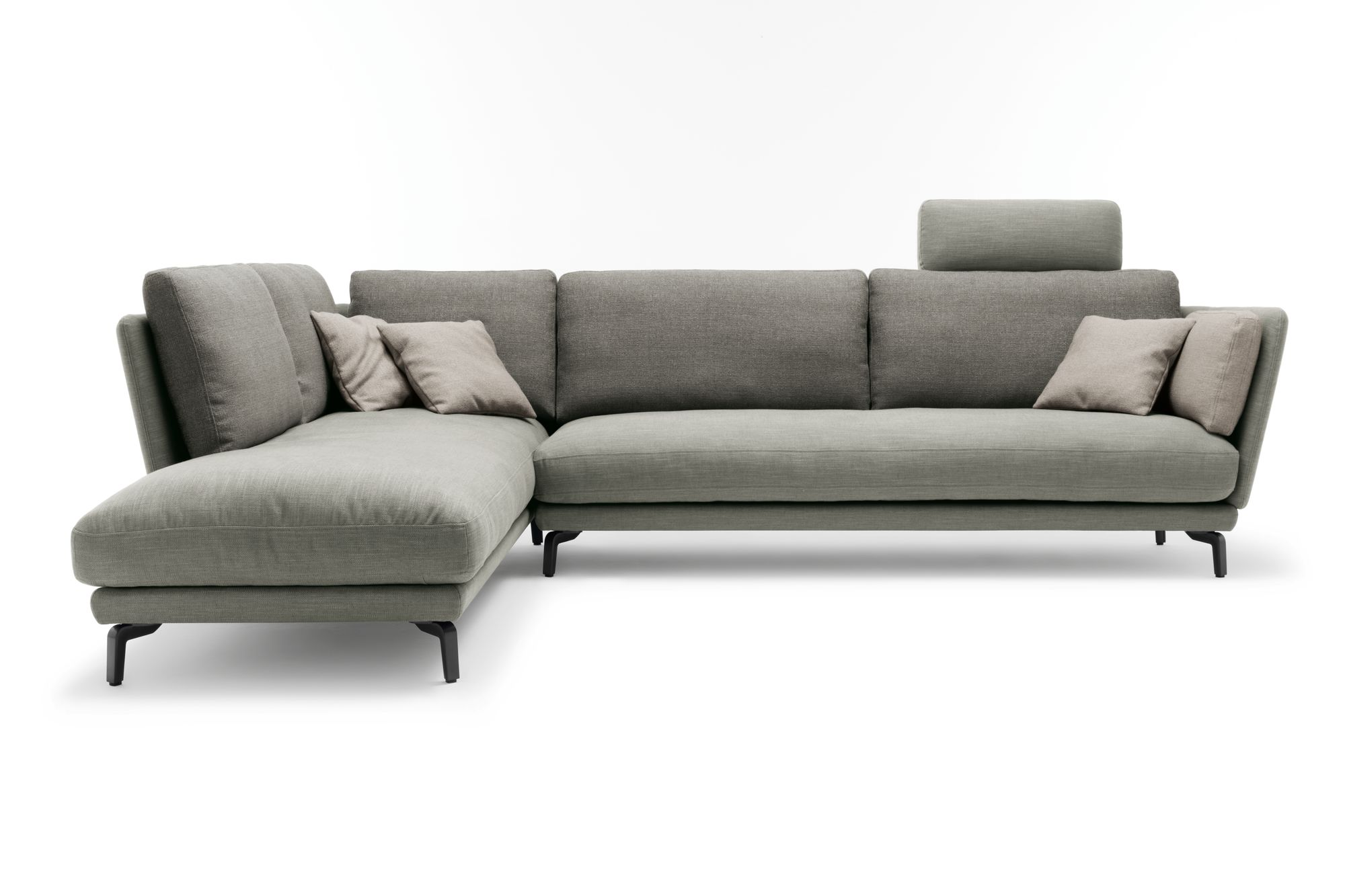 rolf benz rondo ecksofa in stoff hellgrau mit weicher On ecksofa rolf benz outlet
