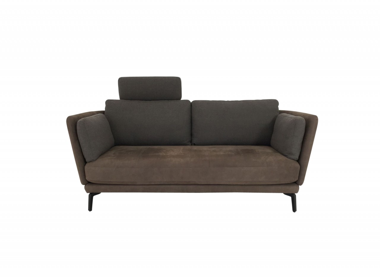 rolf benz rondo sofa in nubukleder braun mit akzentuierten. Black Bedroom Furniture Sets. Home Design Ideas