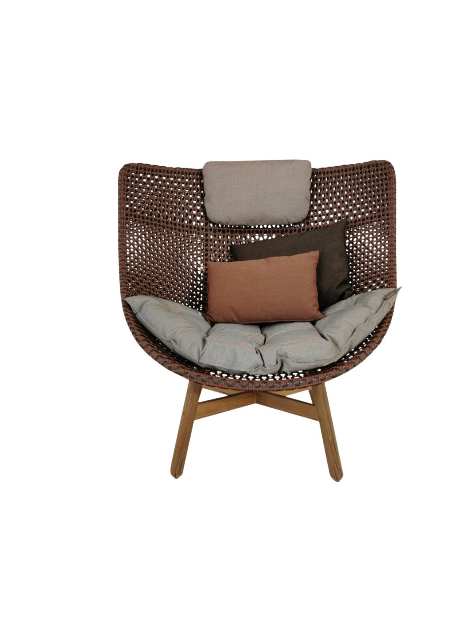 DEDON MBRACE WING CHAIR CINNABAR LIMITED EDITION Hochlehner Sessel ab Lager lieferbar