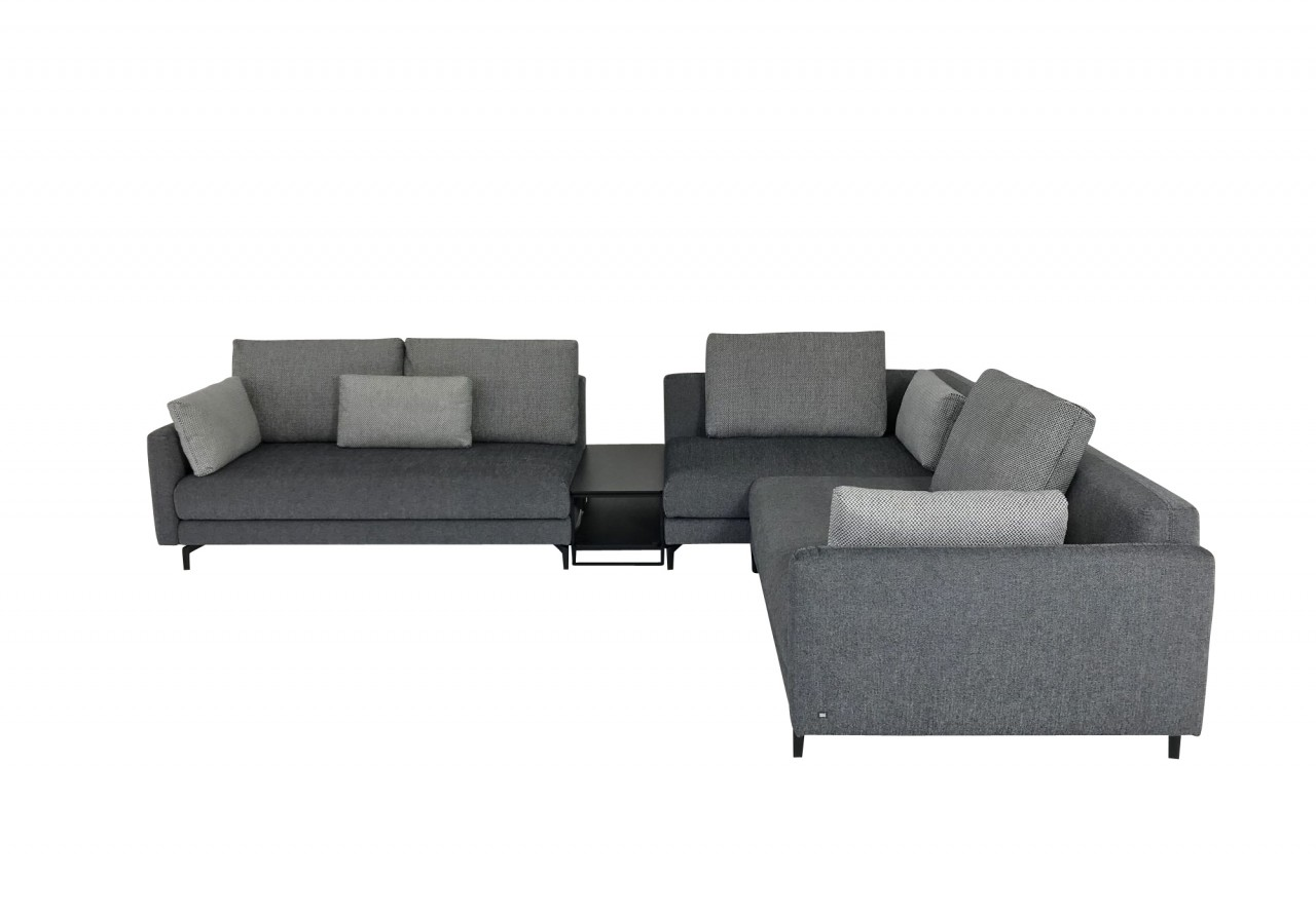 rolf benz nuvola ecksofa mit zwischentisch im naturstoff. Black Bedroom Furniture Sets. Home Design Ideas
