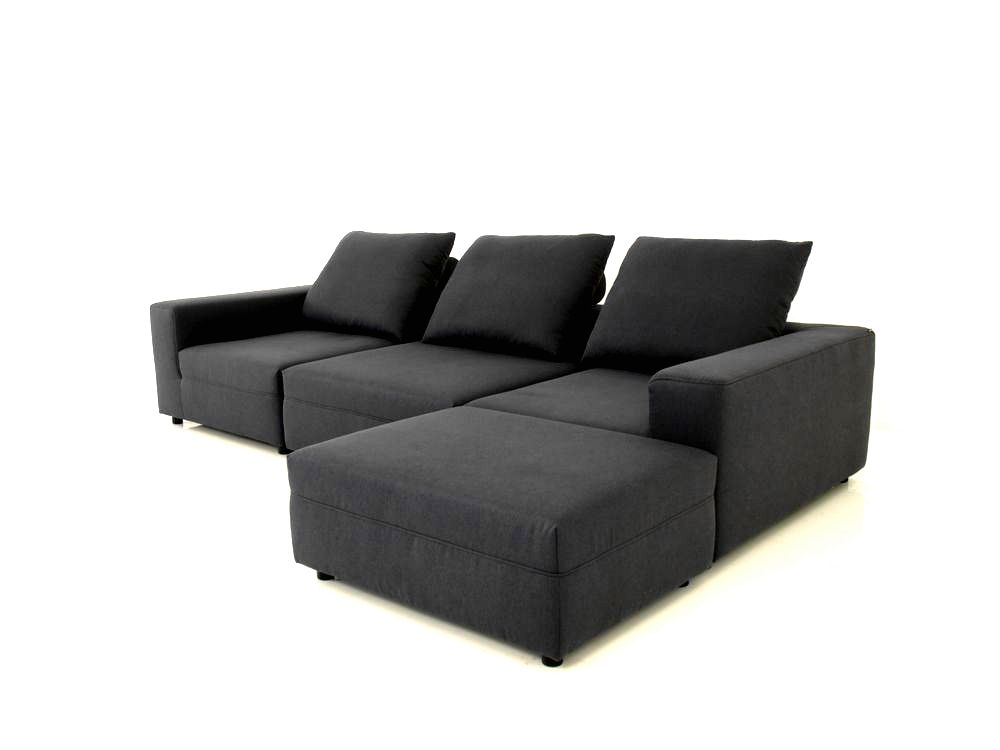 freistil 147 rolf benz sofa in schwarzgrauen stoff. Black Bedroom Furniture Sets. Home Design Ideas