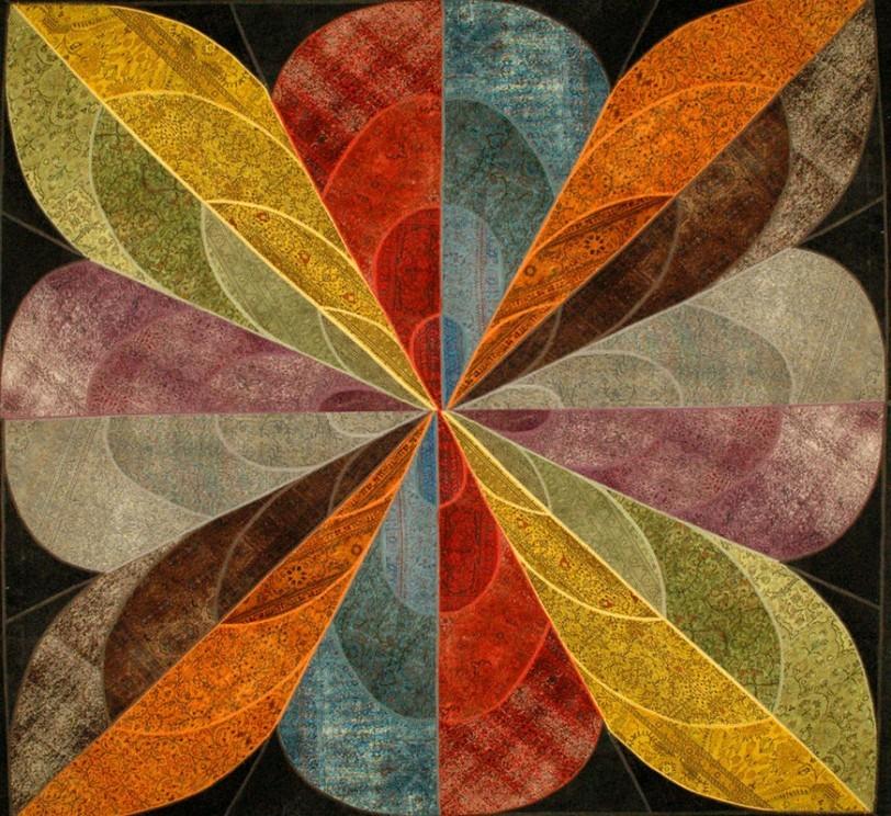 SARTORI KARMA PATCH Vintage Teppich in Blütenmuster als Gesamtkunstwerk