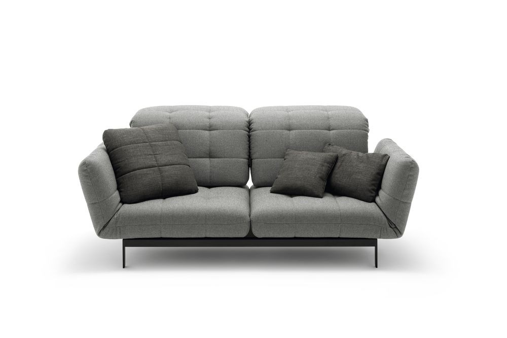 Rolf benz agio sofa mit drehsitzen und neigbaren r cken Wohnlandschaften outlet