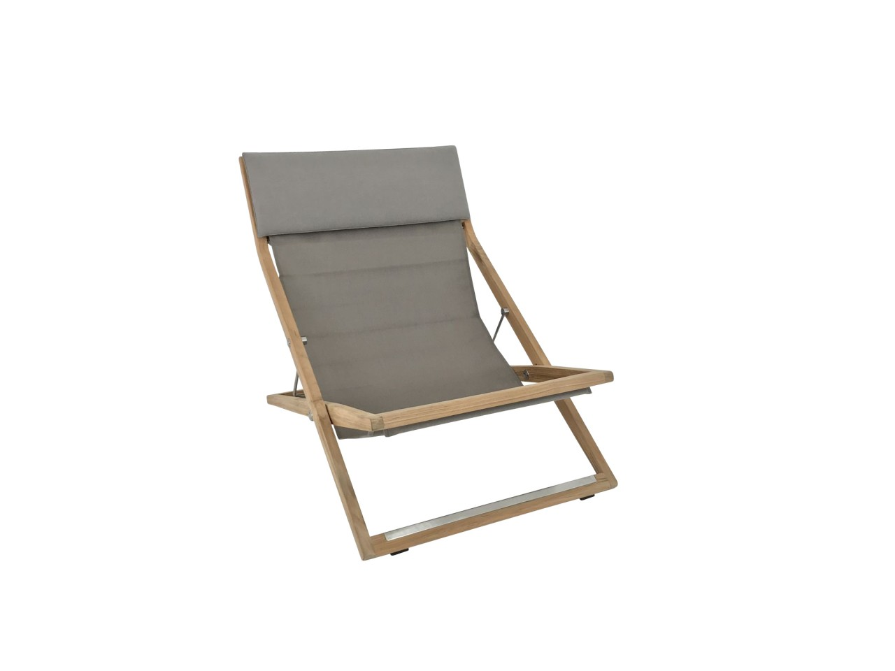 Dedon SEAYOU Deck Chair Liegestuhl in der Farbe 625 sail taupe