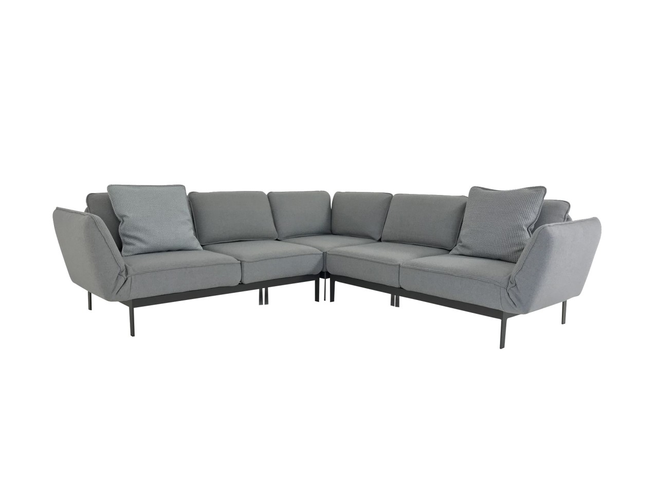 rolf benz mera xl ecksofa im graubeigen schurwollstoff mit. Black Bedroom Furniture Sets. Home Design Ideas