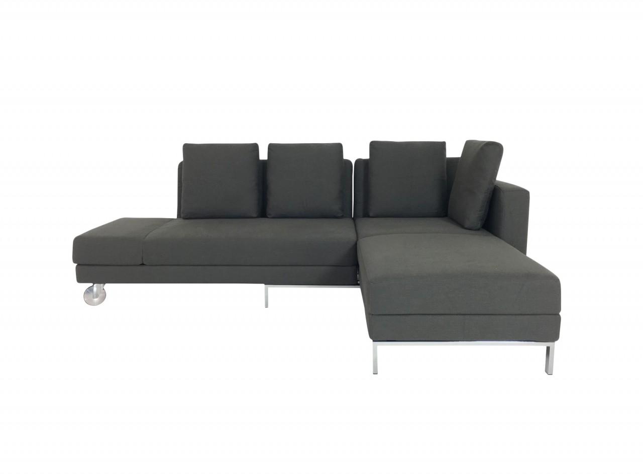 br hl four two sofa mit recamiere und bettfunktion in stoff dunkelgrau br hl schlafsofas. Black Bedroom Furniture Sets. Home Design Ideas